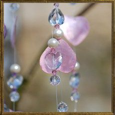 Heart wind chime - pink