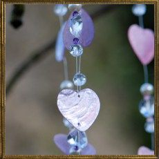 Heart wind chime - lilac