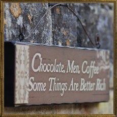 Chocolate Men Coffee sign