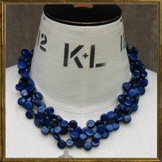 Blue Trinity necklace