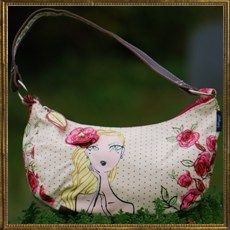 Rose designer handbag