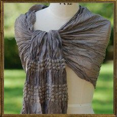 Bobble scarf - light brown