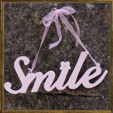Glitter metal sign - Smile