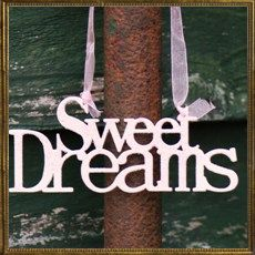 Glitter metal sign - Sweet Dreams