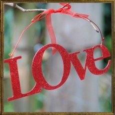 Glitter metal sign - Love - OFFER
