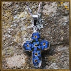 Flower cross - Forget me not