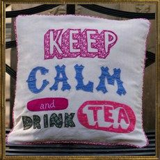 Applique Cushion - Keep Calm