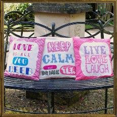 Applique Cushion covers - set of 3
