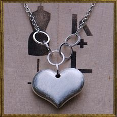 Brushed Silver Heart necklace