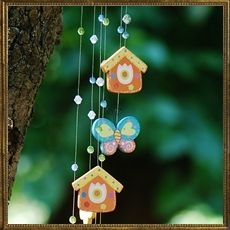Butterfly wooden mobile
